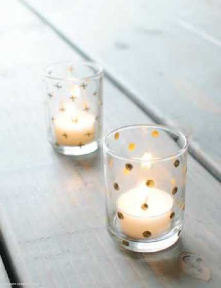 5 Minute Gilded Votive Holders