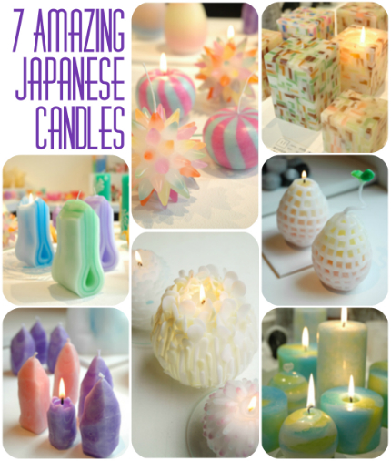 7 amazing candles from a japanese candle making for Candle craft ideas