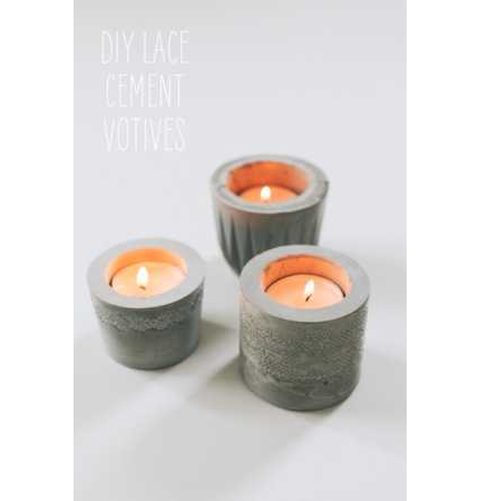 DIY Lace Votives