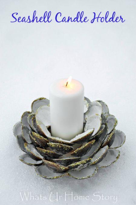 diy-seashell-candle-holder