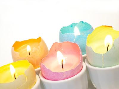 eggshell candles