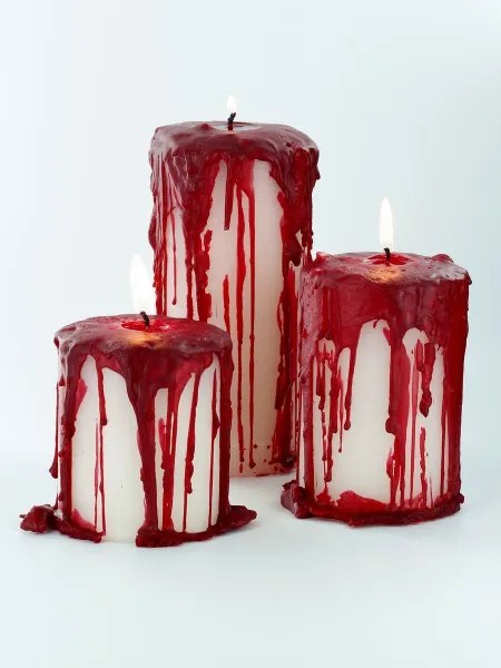 Creepy Blood Covered Candles Candle Making
