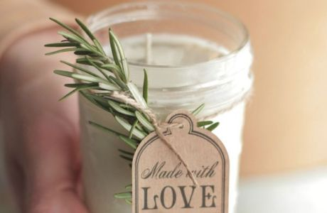 DIY Rosemary Candle