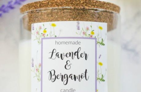 Homemade Lavender and Bergamot Candle