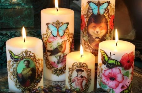 Collage Candles by Mark Montano