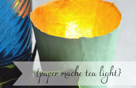 DIY Papermache Tea Light Holder