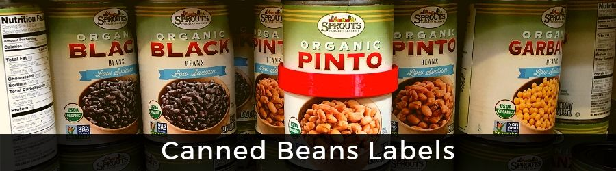 View Canned Beans Labels