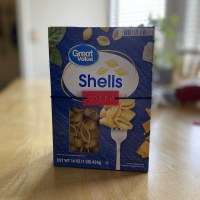a shells braille label on a shells pasta box