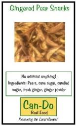 Gingered Pear Snacks