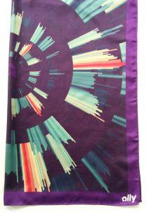 Ally Bank digitally printed silk scarf