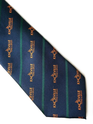 Knoxville Pipes and Drums woven polyester tie