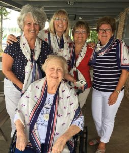 The lovely ladies of the Augusta Yacht Club with their custom scarves.