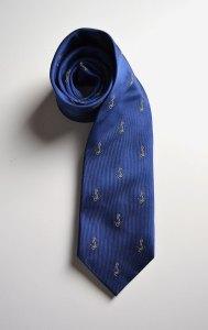 Delta Gamma, woven, silk, tie, blue