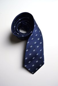 Malone Air Charter, blue, woven, tie