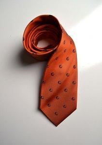 The Salem State Vikings, orange, silk, woven