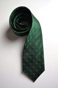 Green, silk, woven, tie, we care