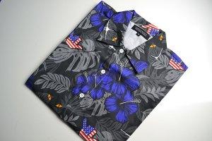35th Fighter Squadron, hawaiian shirt, floral print