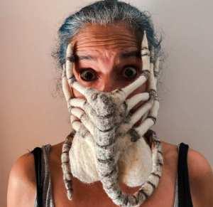 cool mask designs Alien facehugger