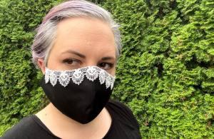 Fancy mask with RGB lace trim