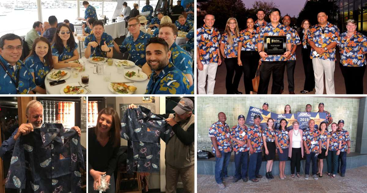 Happy Hawaiian shirt customers Candor Threads