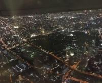 大阪の夜景を空撮