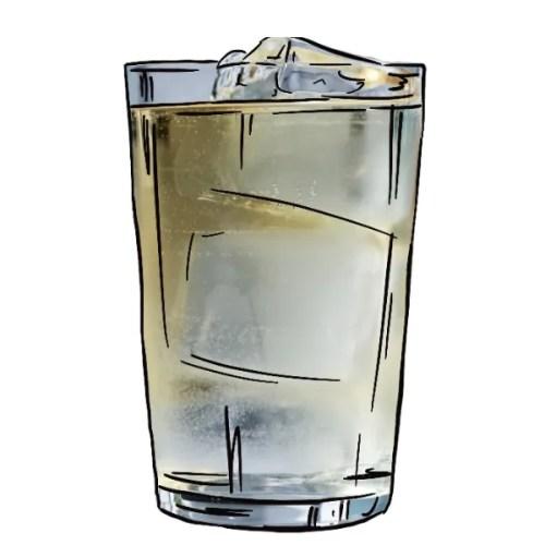 Whisky highball illustration