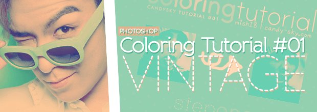 Photoshop: Coloring Tutorial #01: Vintage + BIGBANG iPhone Wallpapers