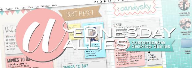 Wednesday Wallies: Customizable Desktop Diaries