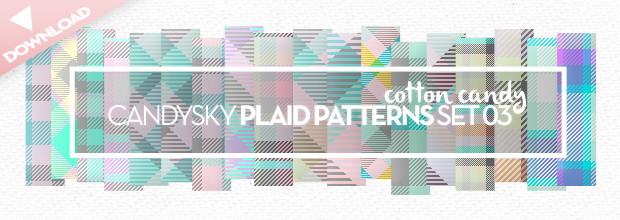 Download: Plaid Pattern Set 03 – Cotton Candy