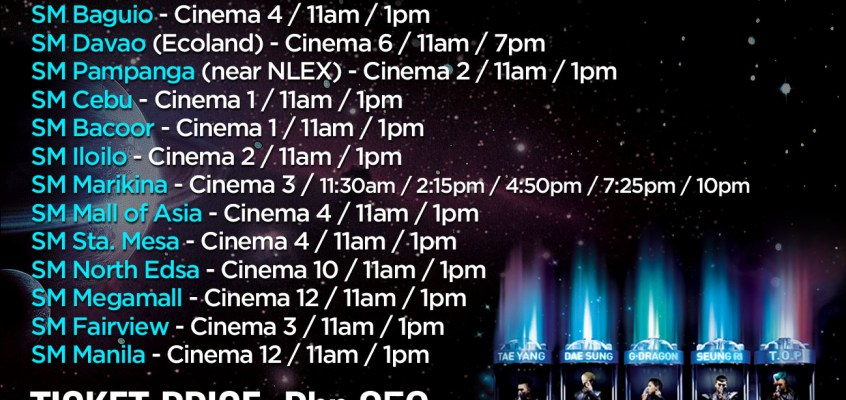 Are you watching BIGBANG Alive Tour at SM CINEMAS this weekend?