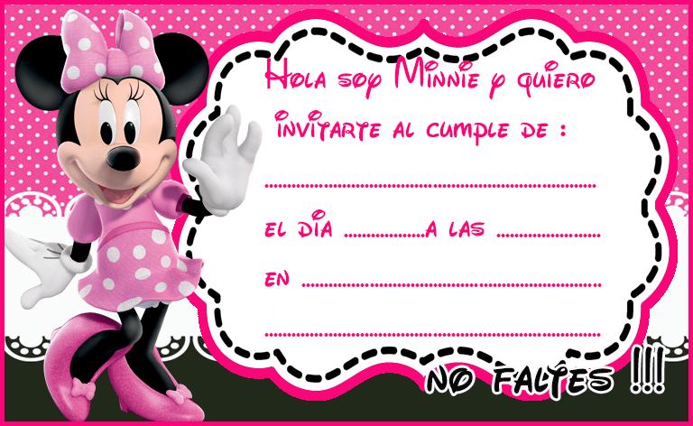 Para Hacer De Minnie Baby Shower Mouse Invitaciones Como