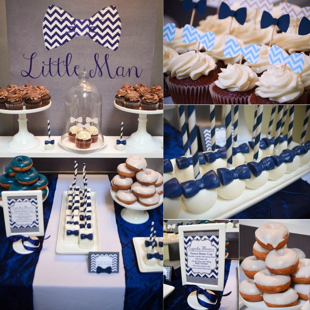 Our Little Man Bowtie Baby Shower Dessert Table Cw