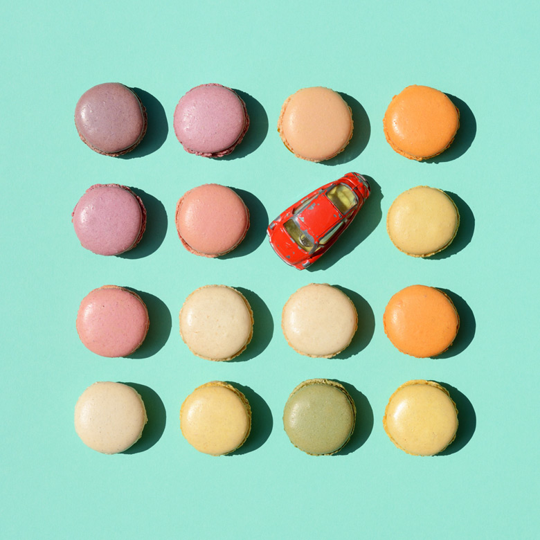 candycars macarons eva gieselberg fotokunst