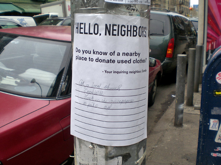 Hello, neighbors flyer