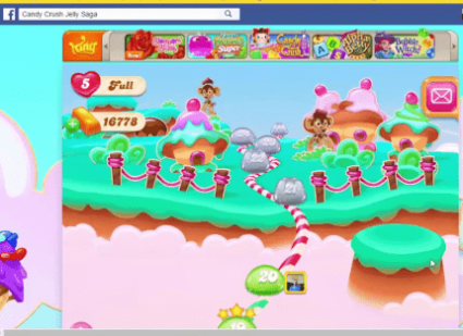 candy crush saga on Facebook