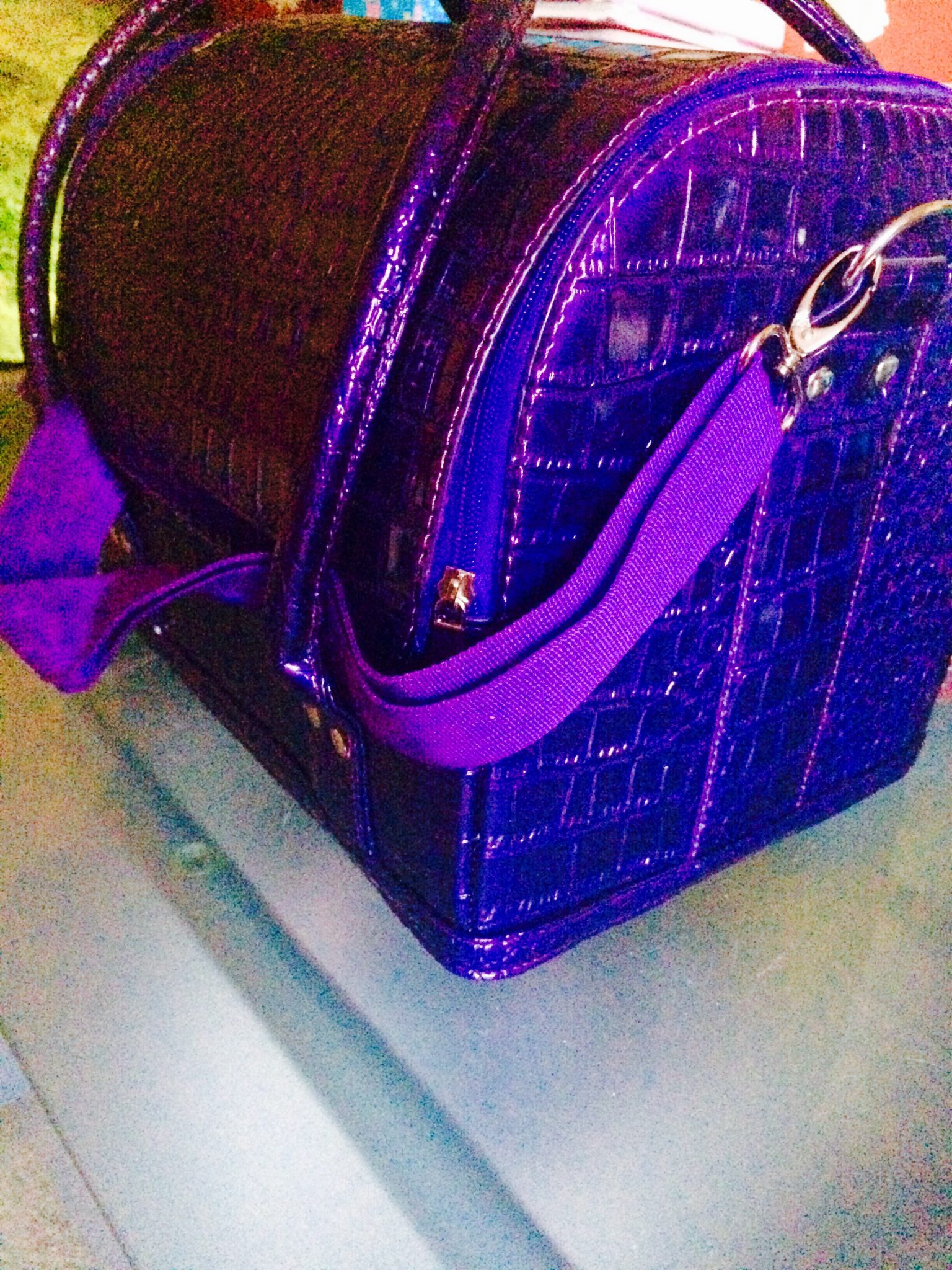 purple vanity case