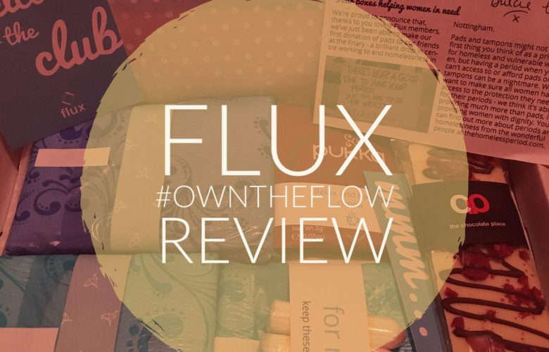 flux review, period box review, period subscription box with treats