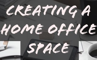 create a home office, sponsored posts, home office for blogging, space for blogging