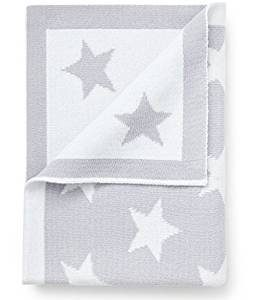 Pixie and Jack grey and white star blanket, soft cotton baby blanket, new baby wishlist