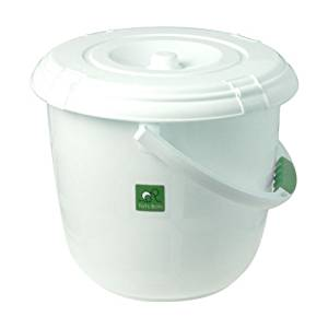 Nappy Bucket for Reusable nappies, White bucket for bathroom, New Baby Wishlist