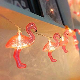 Flamingo Bedroom String Lights