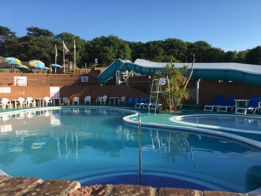 lower hyde swimming pool that guests at Landguard holiday park can use