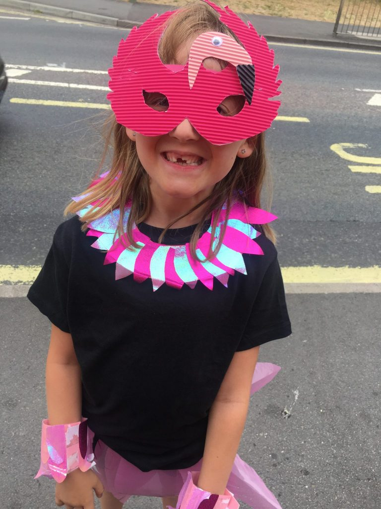 flamingo fancy dress, family update,