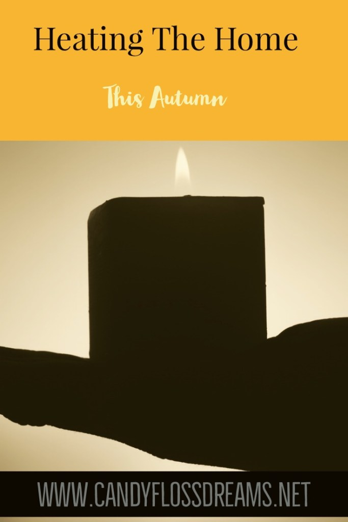 Heating the home this autumn, candle