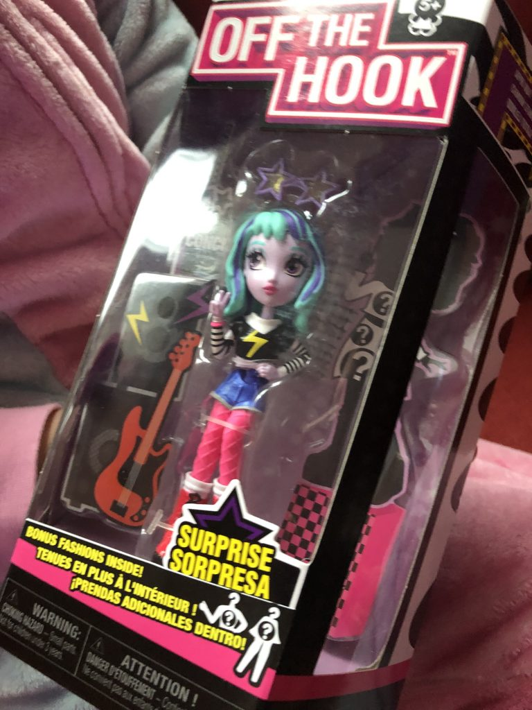 off the hook fashion doll with punk rock outfit and blue hair for girls aged 5 years and over