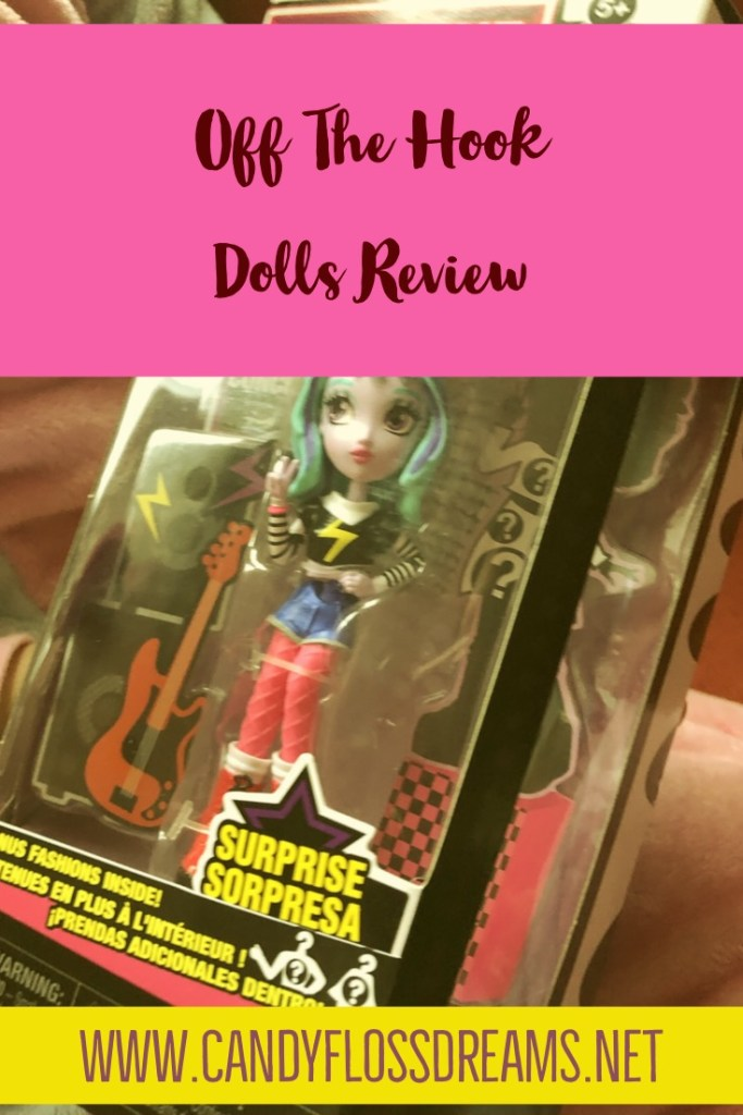 Off The Hook Dolls Review, Fashion Doll with Blue Hair and Punk Rock Dress Boxed for Ages 3+