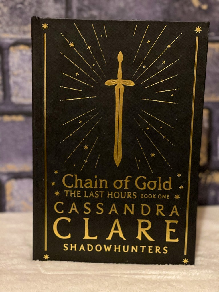 the fairyloot special edition hardback of chain of gold by cassandra clare