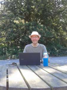 Chris' office in the forest