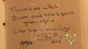 spring marriage haiku