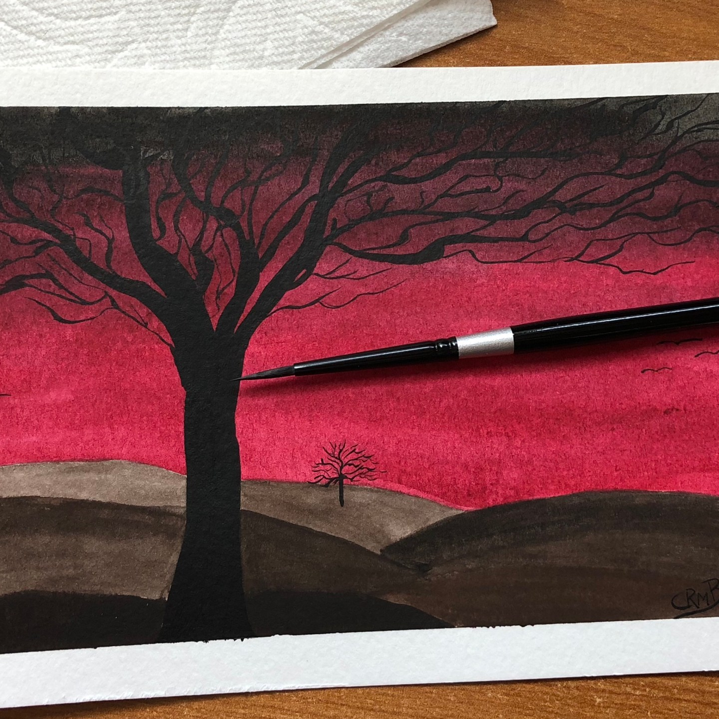 Watercolor – Red Sky